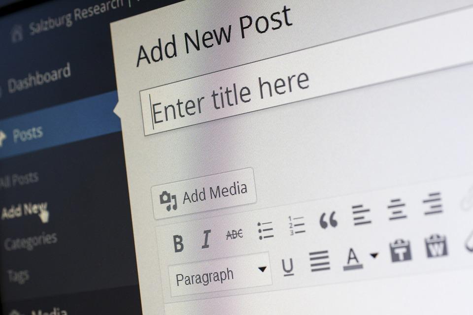 zrzut ekranu strony tworzenia postów w WordPressie